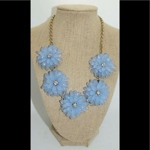 J.CREW Statement Necklace Daisy Flowers & Crystals